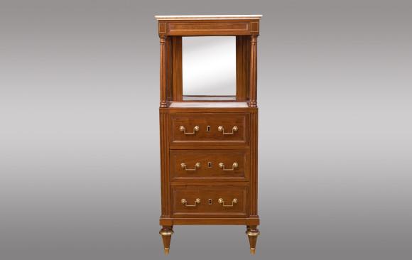Mueble para aseo de caballero en caoba<br/>Fin de la Época Luis XVI