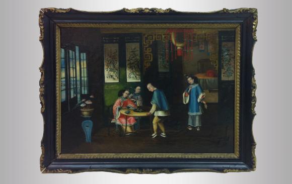 Escena de interior China<br/>Siglo XIX