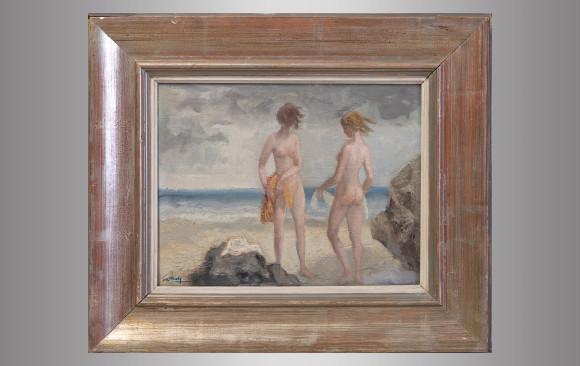 Ricardo Summers (1908-1995) Firmado<br/>''Figuras en la playa''