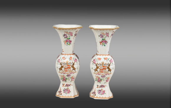 Pareja de Jarrones de porcelana de Samson<br/>Finales del Siglo XIX