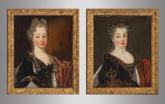 Pareja de Retratos ''Naif''<br/>Siglo XVIII