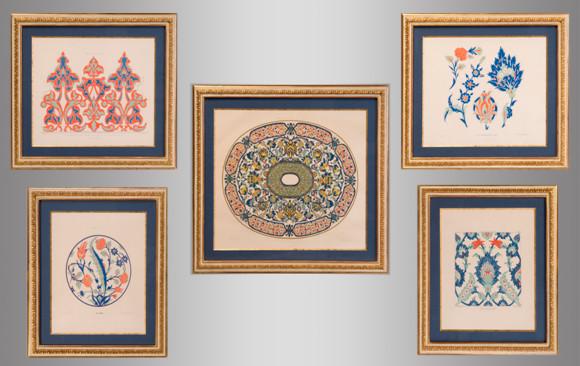 Serie de 5 Litografías Francesas<br/>Principios del Siglo XX