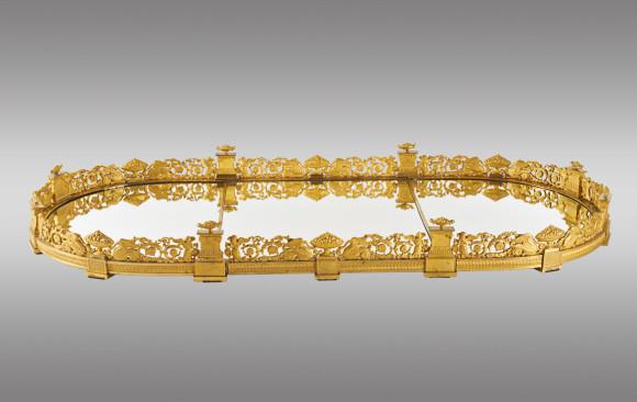 Centro de mesa en bronce dorado<br/>Hacia 1810
