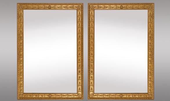 Pareja de Espejos dorados Franceses<br/>Hacia 1830
