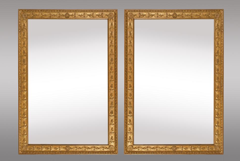 pareja de espejos dorados franceses hacia
