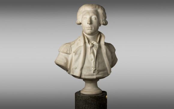 Busto del General Lafayette<br/> en mármol de Carrara<br/>1er Tercio del Siglo XIX