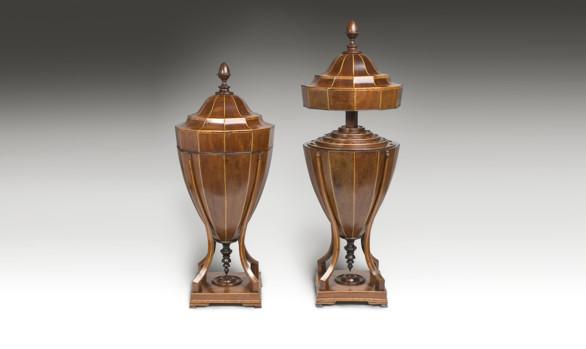 Copas para cubiertos Inglesas en caoba<br/>Finales del Siglo XVIII