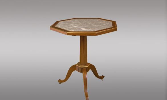 Mesa velador abatible Francesa<br/>Hacia 1800