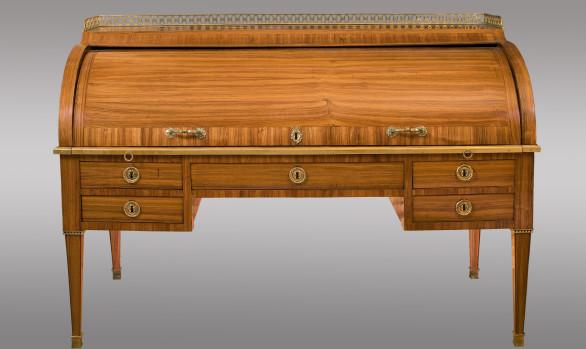 Buró cilindro en palorosa  <br/>Época Luis XVI