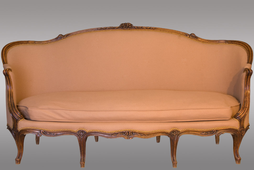 A Pair Of Louis XV Canapé Nineteenth Century. Antique Furniture / Antiques