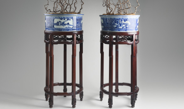 Excepcional Chinese Porcelain Planters<br/>Circa 1900