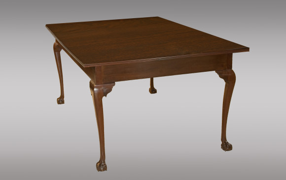 Solid rosewood and mahogany Diningtable<br/> Early 19th. Century