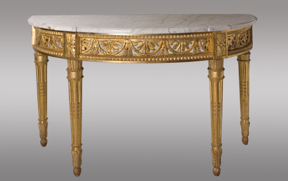 Magnificent carved and gilded <br/>Louis XVI Period Console