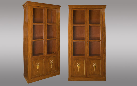 French mahogany Bookcases<br/>Circa 1800