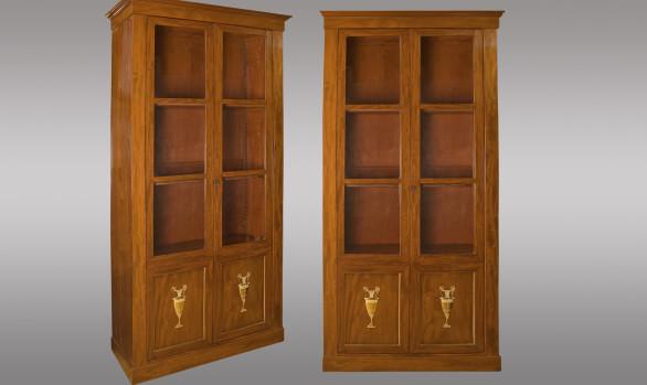French mahogany Bookcases<br/>Circa 1800