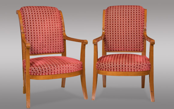 Stylized Mahogany Armchairs <br/>Directoire Period