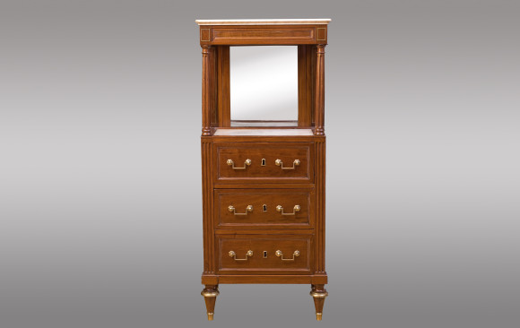 A French gentleman mahogany Cabinet <br/> Louis XVI