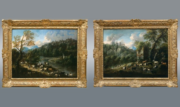 A pair of Tivoli landscapes<br/>Gaetano Ross (Italy 1690- Wien 1770)