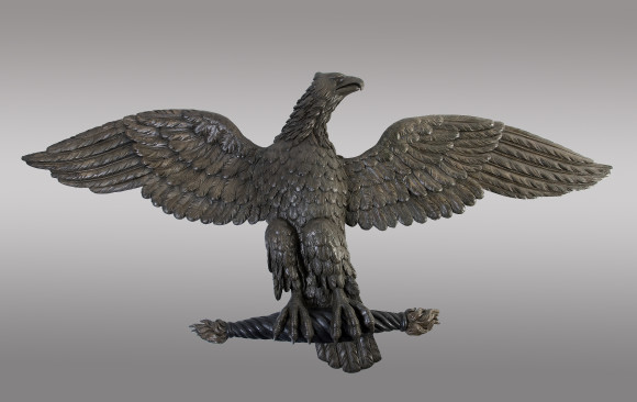 A large carved Eagle <br/>in oak and beechwood<br/> Empire Period