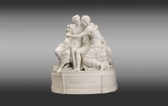 French Porcelain Group <br/>''La Justice et la Paix''<br/>End 18th Century