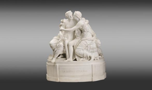 French Porcelain Group <br/>''La Justice et la Paix''<br/>End 18th Century