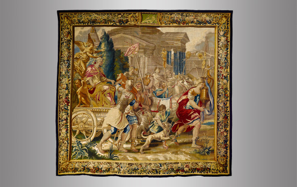 Brussels Historical Tapestry<br/> Circa 1700
