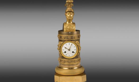 An Empire gilt bronze Clock mantel<br/>Circa 1800