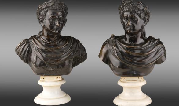 Roman Emperors Busts Italy<br/>Circa 1800