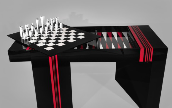 Jean Claude Farhi (1940-2012)<br/> Methacrylate Game Table<br/>Unique piece