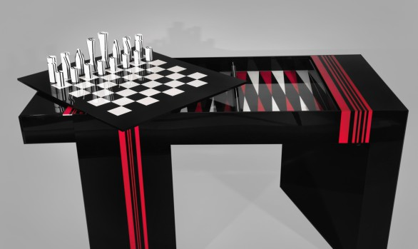 Jean Claude Farhi (1940-2012)<br/> Methacrylate Game Table<br/>Unique piece