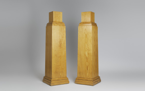 Pair of beautiful pinewood Plinths <br/> Mid- Twentieth Century