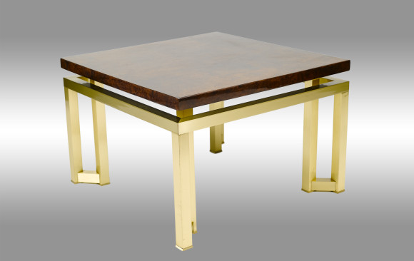Side Table<br/> in elmwood and bronzepñ-
