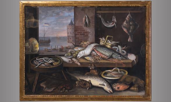 Pair of still life Painted in Gouache<br/> Dutch School<br/>Eighteenth Century