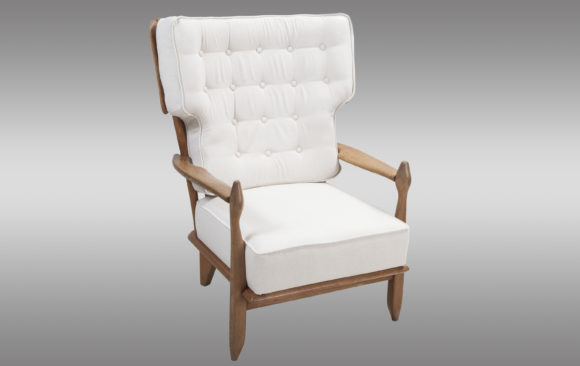 French Oak Chair <br/>Guillerme et Chambron 1960