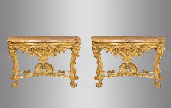 Pair of Roman Consoles<br/>Eighteenth Century