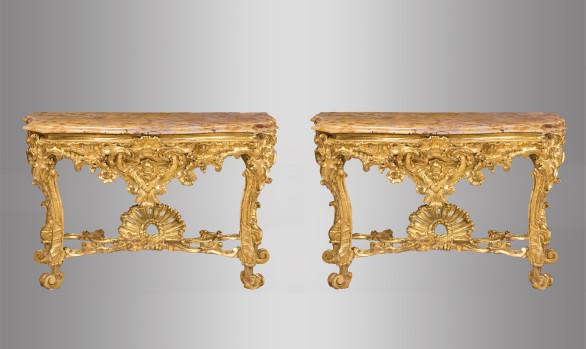 Pair of Roman Consoles<br/>Eighteenth Century