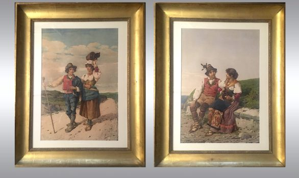 A pair of watercolours of Vicenzo Caprile<br/> (Naples 1856-1936)