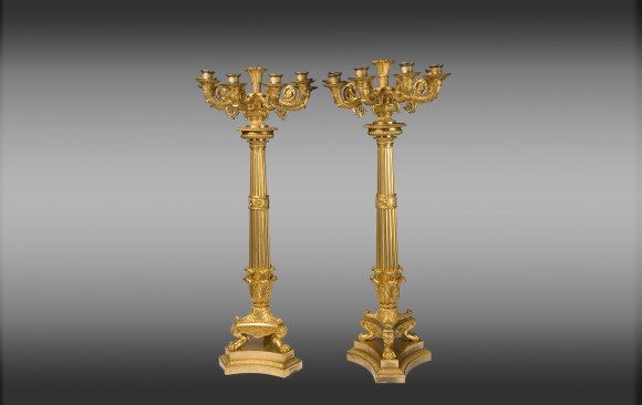 Six ligth Candelabra ormolu  bronze<br/> Empire Period