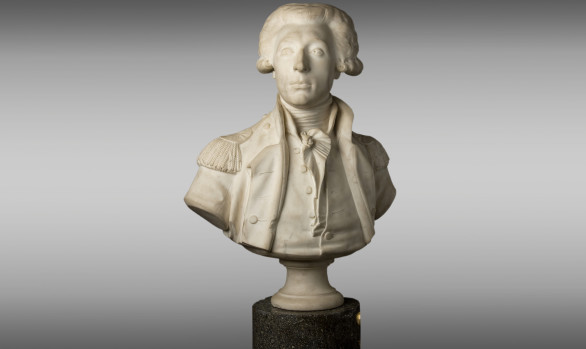Marble Bust of General La Fayette <br/>Circa 1835