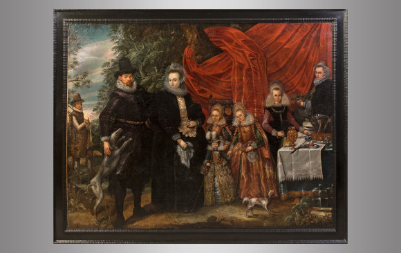 Portrait of a Noble Family in the landscape<br/>Circa 1600