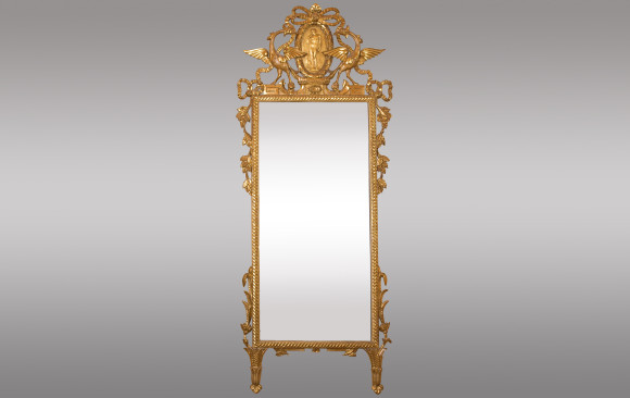 Mirror in gilded wood<br/>from Tuscany, Italy<br/> 18th Century