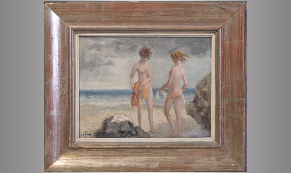 Ricardo Summers ''Serny'' (1908-1995) <br/>''Figures on the beach''