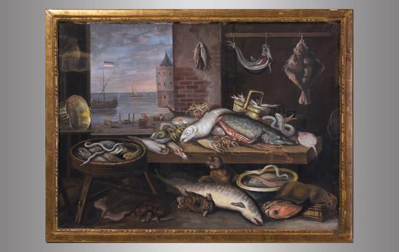 Pareja de Guaches Holandeses<br/> Finales del Siglo XVIII
