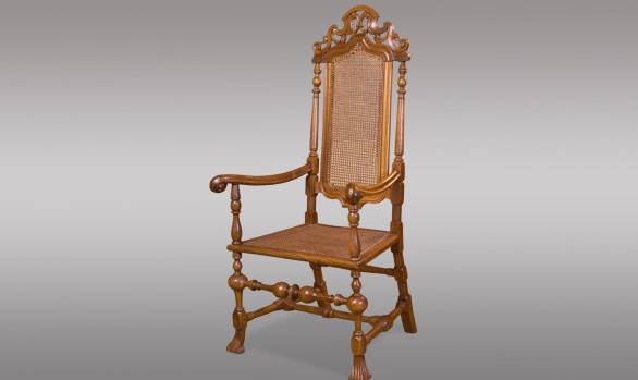 Spanish carved walnut Armchair<br/> Late Seventeenth Century