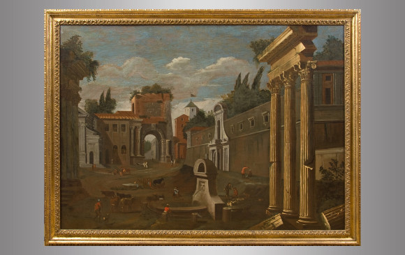 ''View of the Arch of Titus in Rome''<br/> Seventheenth Century