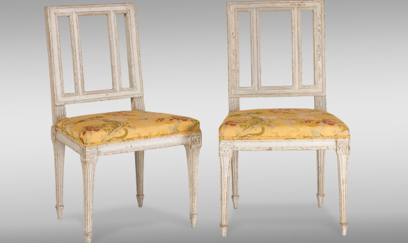 Two French Louis XVI Period <br/>Painted Chairs
