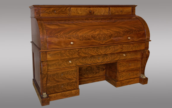 French Empire Cylinder Bureau<br/> Early 19th Century