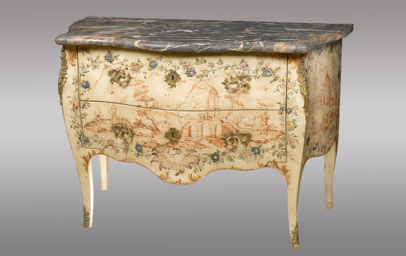 A Genoa rococo painted Commode<br/> Eigtheenth Century