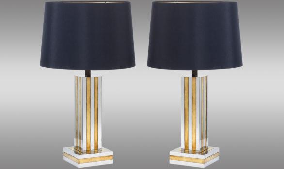Lámparas Italianas de mesa<br/> en acero y latón