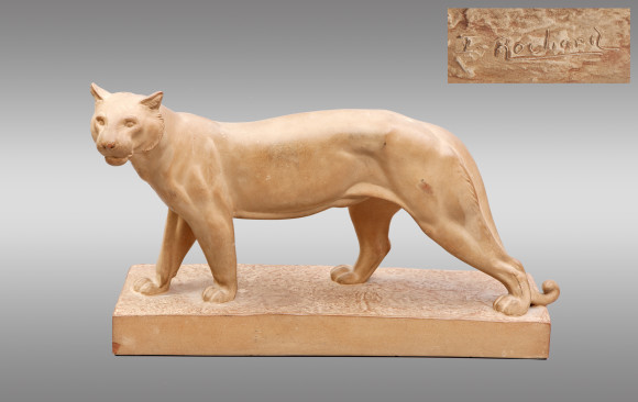 ''Walking Panther'' Terracotta<br/> Circa 1930